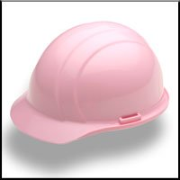 ERB 19375 Americana Cap Style Hard Hat with Slide Lock, Pink