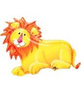 "35"" Jungle Party Lion Foil Balloon - 1"
