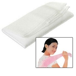 Salux Nylon Japanese Beauty Skin Bath Wash Cloth/Towel - White