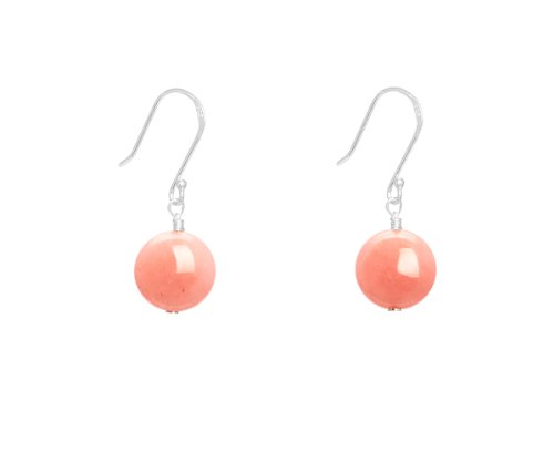 Lola Rose 'Belle' Pink Coral Quartzite Earrings