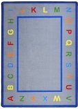 "Joy Carpets Kid Essentials Infants & Toddlers Learn Your Letters Rug, Multicolored, 5'4"" x 7'8"""