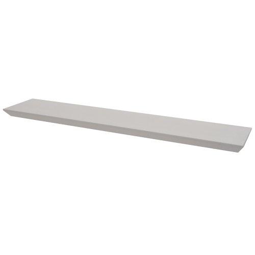 OLIVER - Bevelled 3ft / 91cm Floating Wall Shelf - White