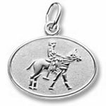 Rembrandt Charms Polo Disc Charm - Sterling Silver
