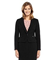 M&S Collection Bouclé Cropped Jacket with Wool