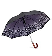 Digital Print Crook Handle Umbrella
