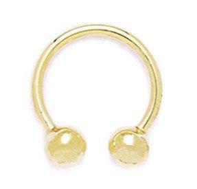 14k Yellow Gold 14 Gauge Circular Body Piercing