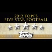 2012 Topps Five Star Football Sealed Hobby Box - Luck - Griffin - Wilson Limited!!!... by Topps+Five+Star
