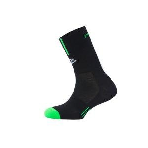 Calcetines Spiuk Profit Cold&Rain Negro-Verde Caña Alta - Talla: 44-47