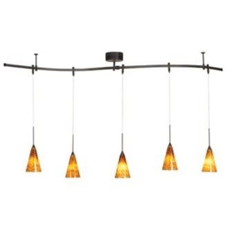 Pro Track? Bronze 175 Watt Five Light Monorail Pendant Kit