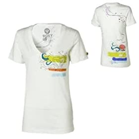 Roxy Running Springs V-Neck T-Shirt - Short-Sleeve - Women's