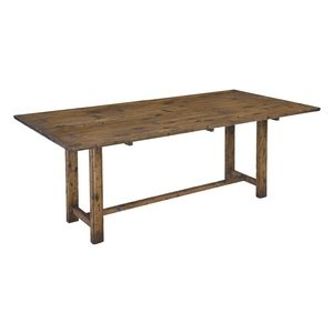 """Bailey Street 6042511 Harvest - 78"""" Dining Table, Distressed Solid Pine Finish front-180819"""