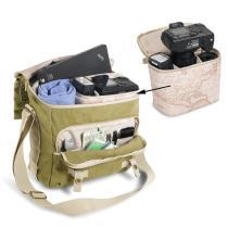 Compartiment rembourré amovible pour protéger un appareil Reflex ou caméscope avec accessoires.