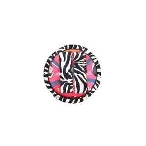 Animal Print Steering Wheel Cover and Shoulder Belt Pad - White Tiger Zebra