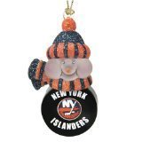 "New York Islanders 3"" All-Star Light Up Snowmen Set of 3 - NHL Hockey"
