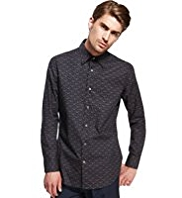 Autograph Pure Cotton Slim Fit Deer Print Shirt
