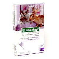 Advantage 80 mg Spot-On Solution for Large Cats and Pet Rabbits (over 4kg)