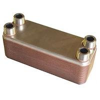 20-plate Brazed Heat Exchanger – 3/4″ MNPT ports