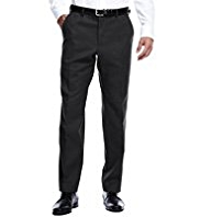 Collezione Luxury Active Waistband Easy Care Flat Front Twill Trousers