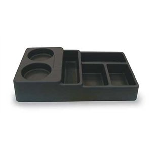 Carlisle ABS Plastic 6 Compartment Coffee Service Condiment Caddy, 14 1/2 x 8 1/4 x 2 7/8 inch -- 1 each.