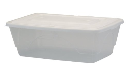 United Solutions To0213 Set Of Six Clear Plastic Six Quart Storage Container With Lid - 6Qt 1.5 Gallon Plastic Organizing/Shoe Box And Lid 6 Pack In Clear-Organize Your Home front-816731