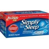 Tylenol PM Simply Sleep Nighttime Sleep Aid 25Mg Caplets - 100 Ct