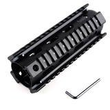 2 Piece Ar 15 Carbine Length Rifle Weaver Picatinny Quad Rail Mount System Aluminum Handguard
