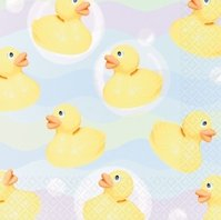 "Rubber Duckie Tablecover Plastic 54"" x 102"" - Each"