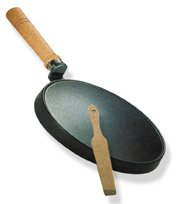 Nonstick Crepe Griddle with Wood Handle