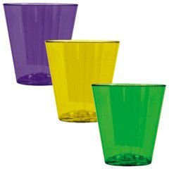 Mardi Gras Plastic 2oz Shot Glasses 40ct