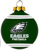 Philadelphia Eagles Christmas Ornament Globes Pack of 6