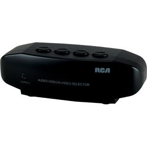 RCA MANUAL S VIDEO A/V SWITCH BOX