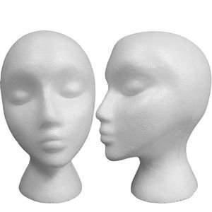 Salon Certified Styrofoam Model Heads, Hat, Wig Foam Mannequin 6 Pack