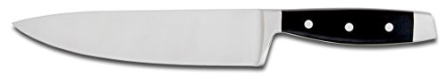 Hampton Forge HMC01A030R Continental Chef Knife with Blade Guard Handle, 8-Inch, Silver/Black