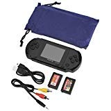 Zerone PXP3 Handheld Game Console, 16 Bit Portable Classic Game Console LCD Game Player with 2.7 Inch Color Digital TFT Screen, 2 Games Cards