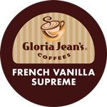Gloria Jeans Coffee French Vanilla Supreme 96 K-Cups Flavored