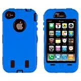 Generic MC0120 Cell Phone Case for iPhone 4/4th Generation - Non-Retail Packaging - Blue