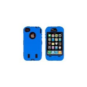 Body Armor for iPhone 4 / 4th Generation - Blue & Black
