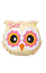 Ganz Owl Baby Bloomer Diaper Cover - Yellow & Pink Owl Baby Bloomer (Size: 0 to 6 Months)