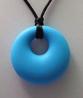 """The Art of CureTM Organic Teething Necklace """"Bright Blue"""", BPA Free - 1"