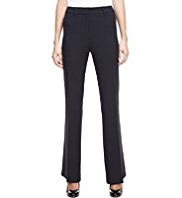 M&S Collection Flat Front Slim Bootleg Trousers