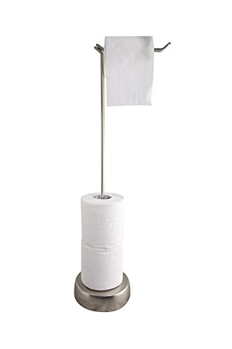 Bathsense orb easy turn toilet paper holder tower 16 x7 for Ceramic bathroom bin