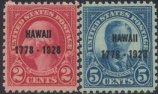 USA Collectible Postage Stamps: 1928 Hawaii Sesquicentennial Issue. SC 647-8. Mint Non Hinged