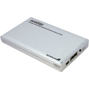 StarTech 2.5 inch Silver Power eSATA to SATA External Hard Drive Enclosure with OTB