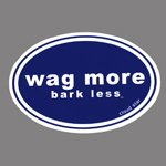 Wag More Bark Less Auto Car Refrigerator MAGNET - Dark blue background with White Font