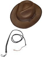 Smiffys Indiana Jones Brown Explorer Hat And Bull Whip. By Smiffys Picture