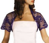 Grace and Flair Violet Lace Bolero Short Sleeve