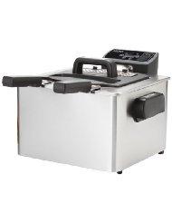 Aroma ADF-232 Smart Fry XL 4-Quart Digital Dual-Basket Deep Fryer 1pc yf 12 deep fryer pot commercial household stainless steel deep fryer machine for potato chicken frying machine