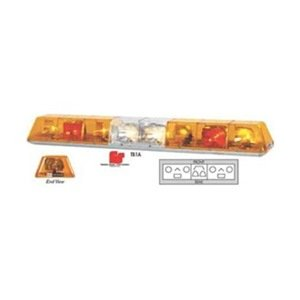 Lightbar, Rotate, Ambr/Red/Clr, Perm, 53 In