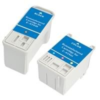 Amsahr 0T040 Remanufactured Replacement Epson Ink Cartridges for Printers/Faxes with 1 Black and 1 Color Cartridges Ink