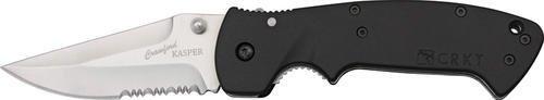 Columbia River Knife & Tool 6783SZ Part Serrated Crawford Kasper Linerlock Knife with Black Zytel Handles